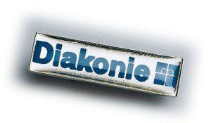 Anstecknadel / Pin mit Diakonie-Logo