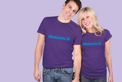 Violettes T-Shirt in neuer Qualität