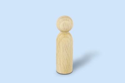 Holzkegelfigur männlich klein