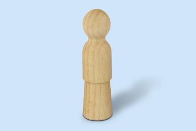 Holzkegelfigur weiblich groß