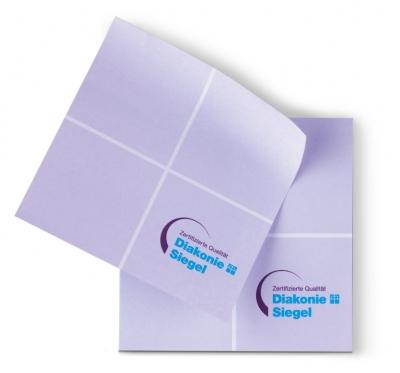Haftnotizen Diakonie-Siegel Pflege