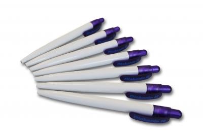Kugelschreiber mit violettem Clip